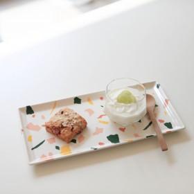 테라조 직사각 접시 1p