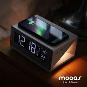무아스 LED무선충전 시계